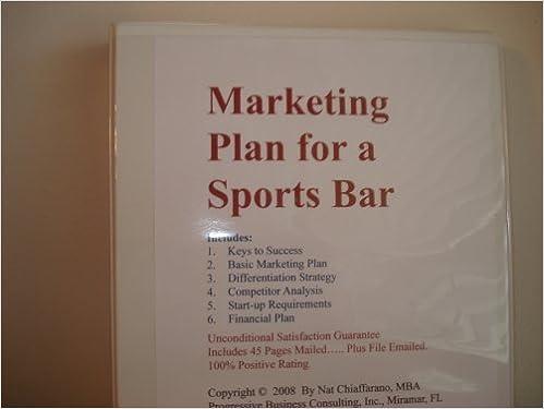 bar marketing plan