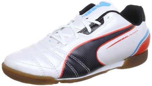 Puma Universal IT Jr 102704 Unisex-Kinder Fußballschuhe Weiß (metallic white-black-hawa 03) 34