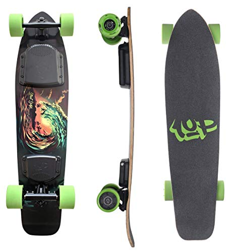 Ride1UP Electric Longboard, Electric Skateboard with Remote for Adults, 7.5AH 10S3P Samsung Battery, Custom Battery Case, 4-Speed Ergonomic Remote, Motorized Board for Carving (38.5