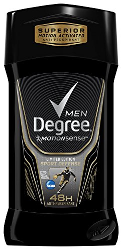 Degree Men Série Adrenaline & Déodorant antisudorifique, Sport Défense 2,7 onces, (pack de 4)