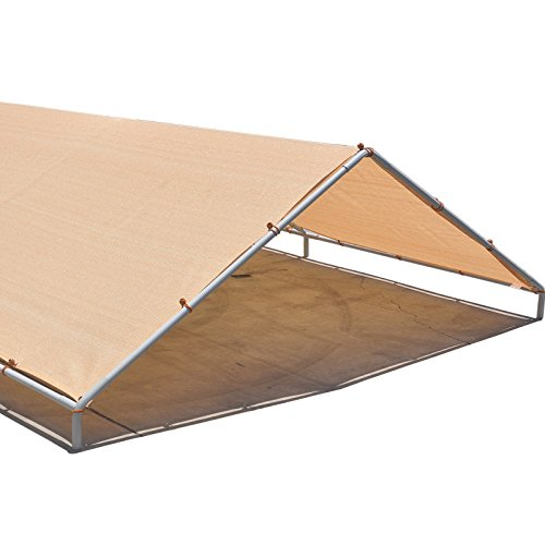 Alion Home Carport Canopy Replacement Permeable Sun Shade Cover (Frame Not Included) (12' X 20' fits 10' x 20' frame, Banha Beige) by Alion Home