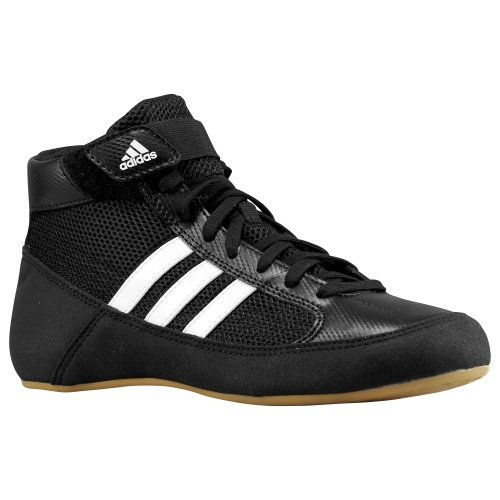 Adidas HVC Wrestling Shoes - Black/White-10 by adidas