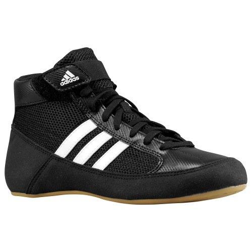 adidas HVC Wrestling Shoes - Black/White- 8.5