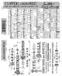Tim Holtz Stampers Anonymous Cling Stamps Music /& Advert