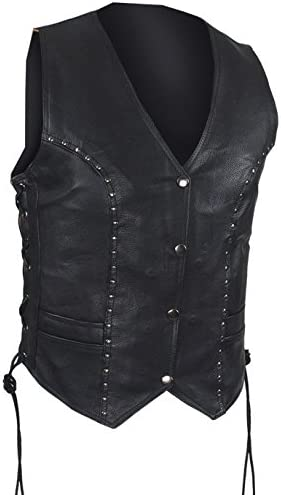 amazon leather vest womens