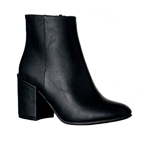 High Bootie Ankle Riverberry Heel Chunky Women's Boots Tori Black 6TwqtRanp