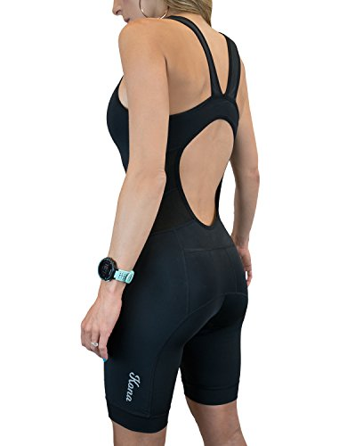 Triathlon Apparel - Kona Women's Triathlon Race Suit - Speedsuit Skinsuit Trisuit Sleeveless - One-Piece Vest and Short Combo with Body-Mapped Ventilation