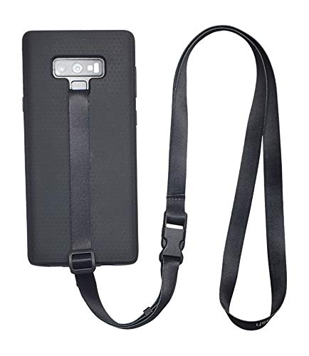 foneleash 3 in 1 Universal Cell Phone Lanyard Neck Wrist and Hand Strap Tether (Black)