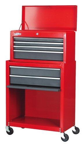 Sealey AP2200 - Armario para herramientas (baúl con apertura superior y base con ruedas), color rojo y gris: Amazon.es: Bricolaje y herramientas