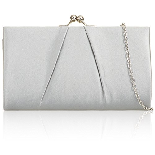 Party Women Designer Handbags London Xardi Ladies Bridal Clutch Bag Evening Silver 8q5WwaS