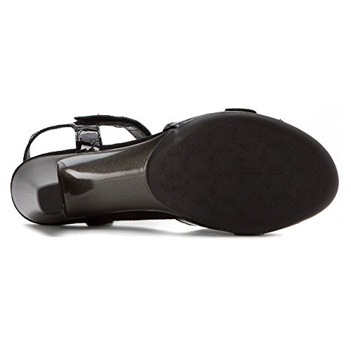 Helle Womens Leather Sandals Comfort Black Eudora xP1wxr7