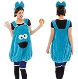 Traje de Halloween de Navidad de Plaza Sesamo mullida vestido de Cookie Monster fiesta de fin de ano