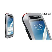 Love Mei Multifunction Upgraded Version Phone Case for Samsung Galaxy Note II(Silver)