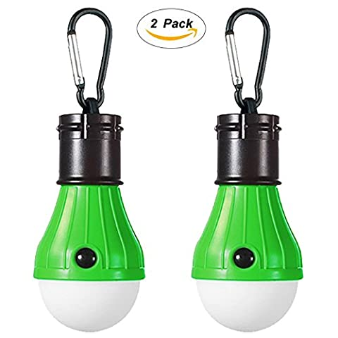 2 Pack LED Camping Lantern Portable Flashlight 3 Modes Lamp for Indoor and Outdoor Decoration Backpacking Camping Fishing Gear Tent Bulb Courtyard Emergency Light Battery - Outdoor Gear