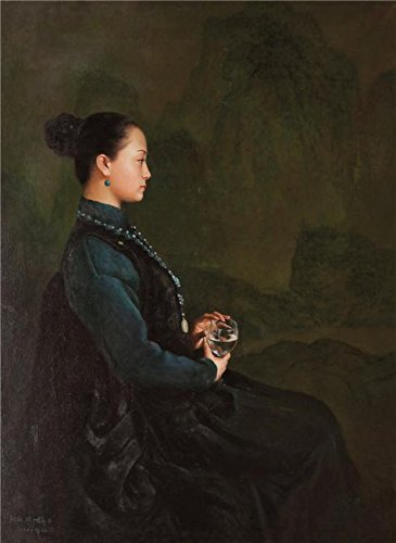 Oil Painting 'Portrait Of A Seated Woman Holding A Glass' Printing On Perfect Effect Canvas , 12x16 Inch / 30x42 Cm ,the Best Basement Artwork And Home Decoration And Gifts Is This Vivid Art Decorative Canvas Prints