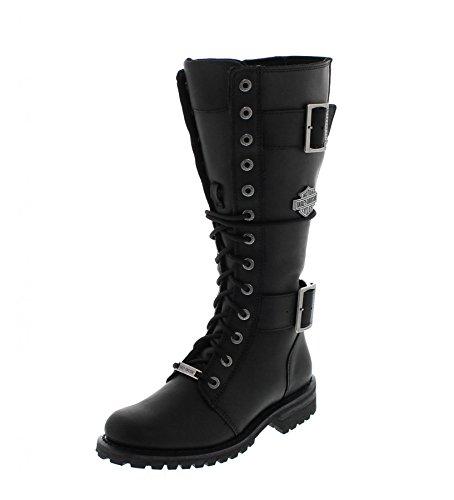 Harley Davidson Womens Belhaven Leather Boots Black oCtMRQbXfy