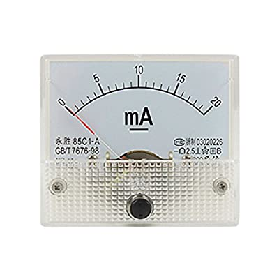 uxcell 0-20mA Analog DC Current Panel Meter Ammeter 85C1-A