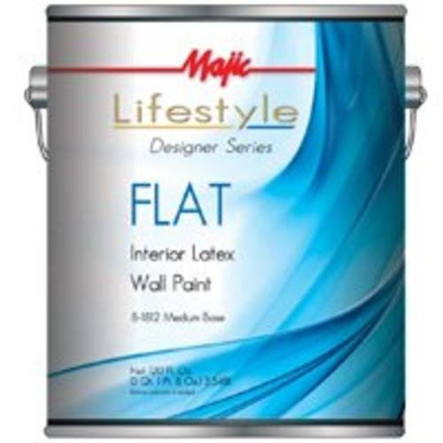 Majic 8-1812-1 Interior Latex Flat Wall Paint, Medium Base (Pack Of 4) by YENKIN MAJESTIC PAINT