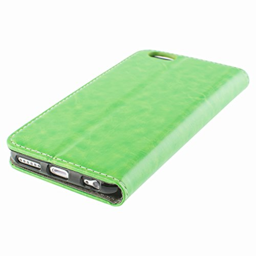 Brilliant Style Apple iphone 6s plus Case cover, Apple iPhone 6s plus Green Designer Style Wallet Case Cover