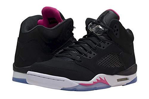 Jordan Nike Kids Air 5 Retro GG Basketball Shoe 7 Black (Jordan Pink And Shoes White)