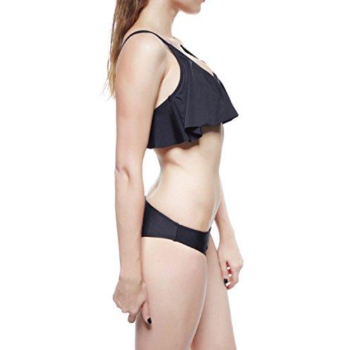 La Sra Personalidad Atractiva Bikini De Dos Piezas Black