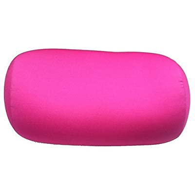 "Cushie Pillows 7"" x 12"" Microbead Bolster Squishy/Flexible/Hypoallergenic/Extremely Comfortable Roll Pillow"