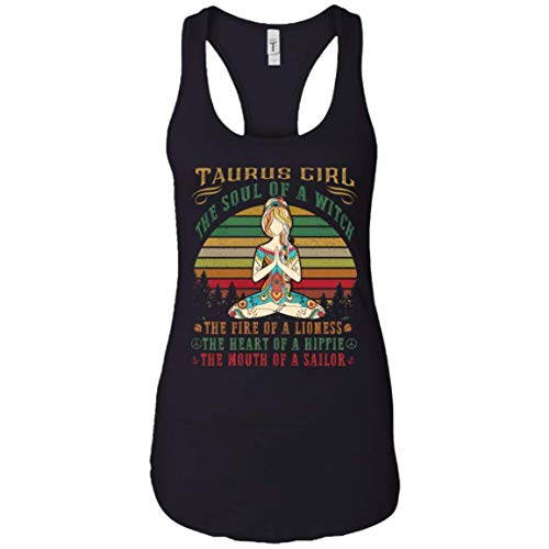 AnkhStore Taurus Girl Tank Tops for Yoga Black Women Birthday Gifts Tshirt