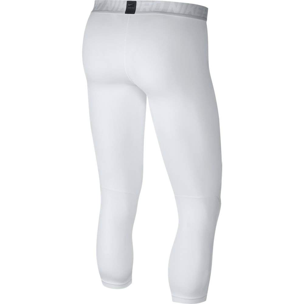 Nike Men's Pro Tights White/Pure Platinum/Black Size Small by Nike (Image #3)