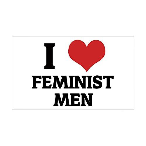 (CafePress I Love Feminist Men Rectangle Sticker Rectangle Bumper Sticker Car Decal)