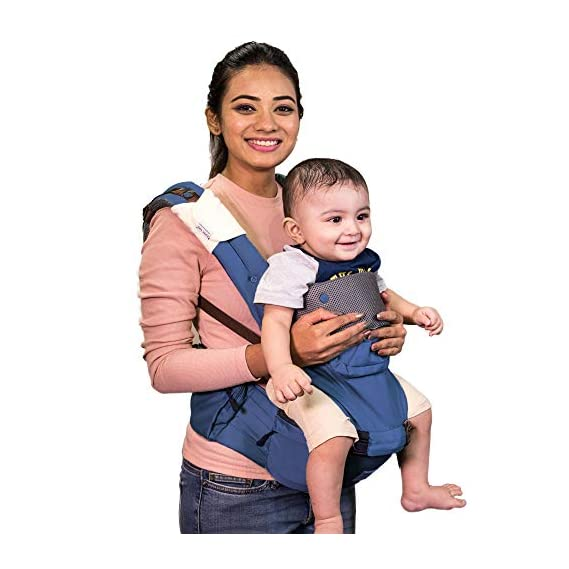 Polka Tots Ergonomic Baby Hip Seat / 6 in 1 Baby Carrier with Airbag Seat and Adjustable Waist and Excellent Lumbar