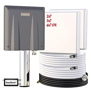 Image of Signal Boosters Signal Booster for Cell Phone-Up to 6000-8,000 sq ft,Amazboost Antenna AT&T Verizon T-Mobile Sprint All U. S. Cellular 4G LTE 3G 2G Cell Booster for Home Office Building Warehouse