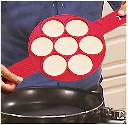 Molde de silicona para hacer panqueques antiadherente, accesorio ...
