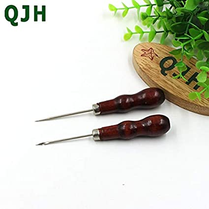 Sewing Tools 2Pcs 13.3Cm Sewing Punch Hole Hook Awl /& Leather Cone DIY Handmade Leather Tool Cone Needle Repair Shoes Leather Craft Color: Rx142