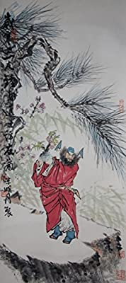 [Chinese Ink and Wash Painting]-Zhong Kui Visiting his Friends- 100% creative by Master Song - 37.40 x 16.14 inches