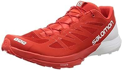 Salomon Unisex S-Lab Sense 6 Running Trail Shoes Racing Red/White / White 6