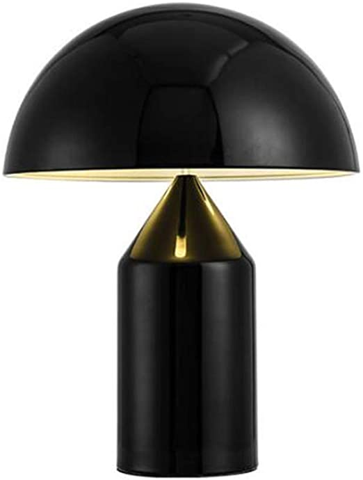 HYX Lámpara de Mesa Tipo Seta, Bombilla de Hierro, luz Nocturna, lámpara de mesita de Noche nórdica, iluminación Decorativa para el Dormitorio de los niños, Sala de Estar, Bar, Hotel (Negro): Amazon.es: