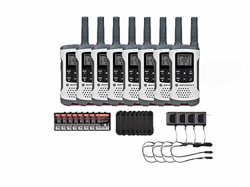 Motorola T260 Rechargeable Two-Way Radios / Walkie Talkies 8-PACK Brand New Sealed