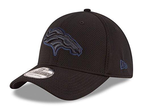 Denver Broncos Black Tone Tech 2 39THIRTY Flex Fit Hat / Cap Medium/Large