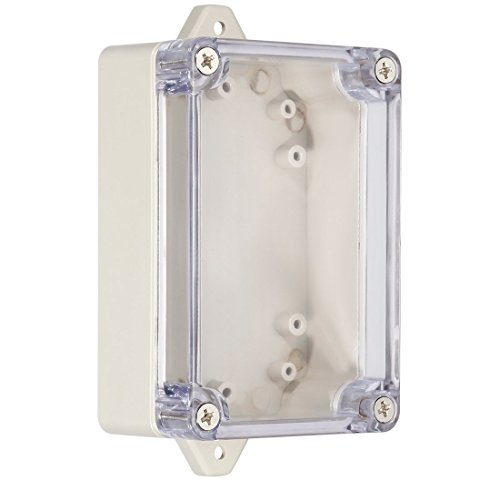 uxcell 100x68x40mm/3.94x2.68x1.57inch Wateproof Electronic ABS Plastic DIY Junction Project Box Enclosure Case Outdoor/Indoor with Clear Cover