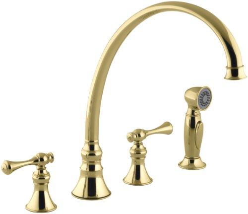 KOHLER K-16111-4A-PB Revival Kitchen Sink Faucet, Vibrant Polished Brass