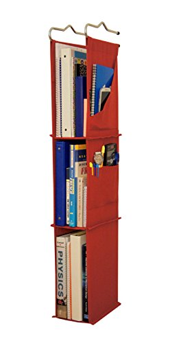 Ladder Hanging - Locker Ladder Locker Organizer Hanging Shelves, Sewn and Assembled in USA (Red)