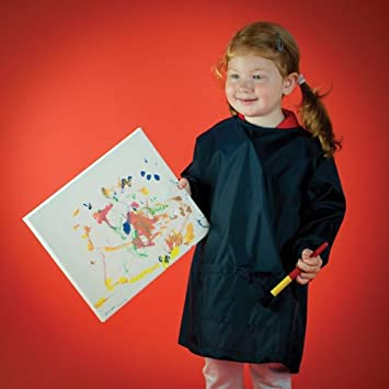 Larkwood Navy Toddler/'s water-resistant painting smock//Apron