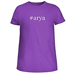 Arya Cute Womens Junior Graphic Tee Purple Large