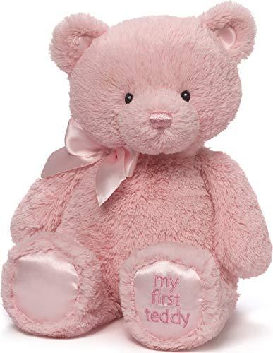 "Baby GUND My 1st Teddy Bear Stuffed Animal Plush, Baby Girl Pink, 15"""