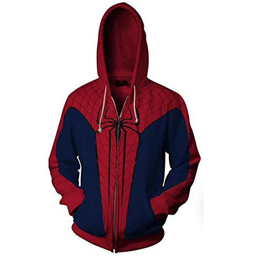 TngHui Adult Size Spiderman Cosplay Costume Sweater Commemorative Clothes Unisex-Adult -