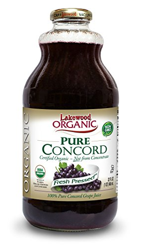 Lakewood Organic PURE Concord Grape Juice, 32-Ounce Bottles (Pack of - Lakewood Stores