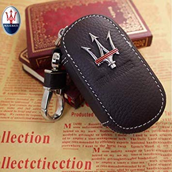 Bloomerang Arrival Men's Genuine Genuine Leather Bag Car Key Case Cover Wallets Fashion Women Housekeeper Holders Carteira for Maserati 1