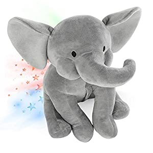 Elephant Star Projector Night Light for Kids, Plush Elephant Stuffed Animal, Elephant Gifts for Bedroom Ceiling – INNObeta Elphy Grey