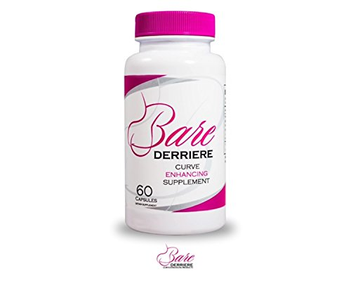 Bare Derriere | Butt,Booty,Bum | Enhancement Enlargement Supplement Pill | Grow Your Booty Naturally | Tested & Proven | Fenugreek, Maca Root, Dong Quai, Wild Yam | All Natural | Made in The USA