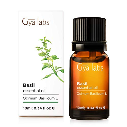 Basil Lemongrass - Basil Essential Oil for Hair Growth (10ml) - 100% Pure Therapeutic Grade - Gya Labs
